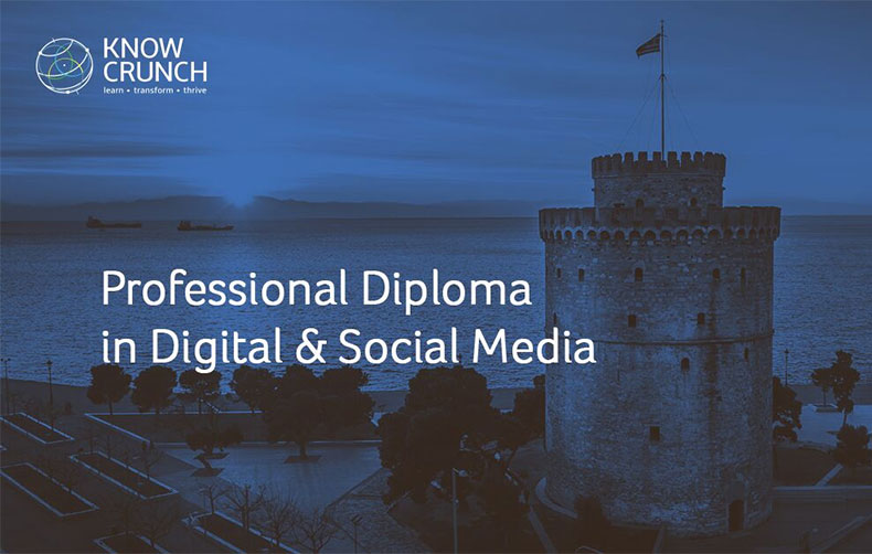 Professional Diploma in Digital & Social Media από τη KnowCrunch